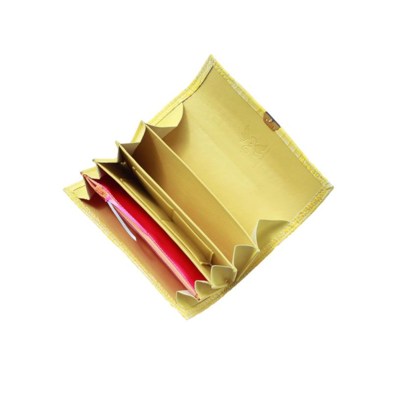 gelbe leder damen portemonnaies