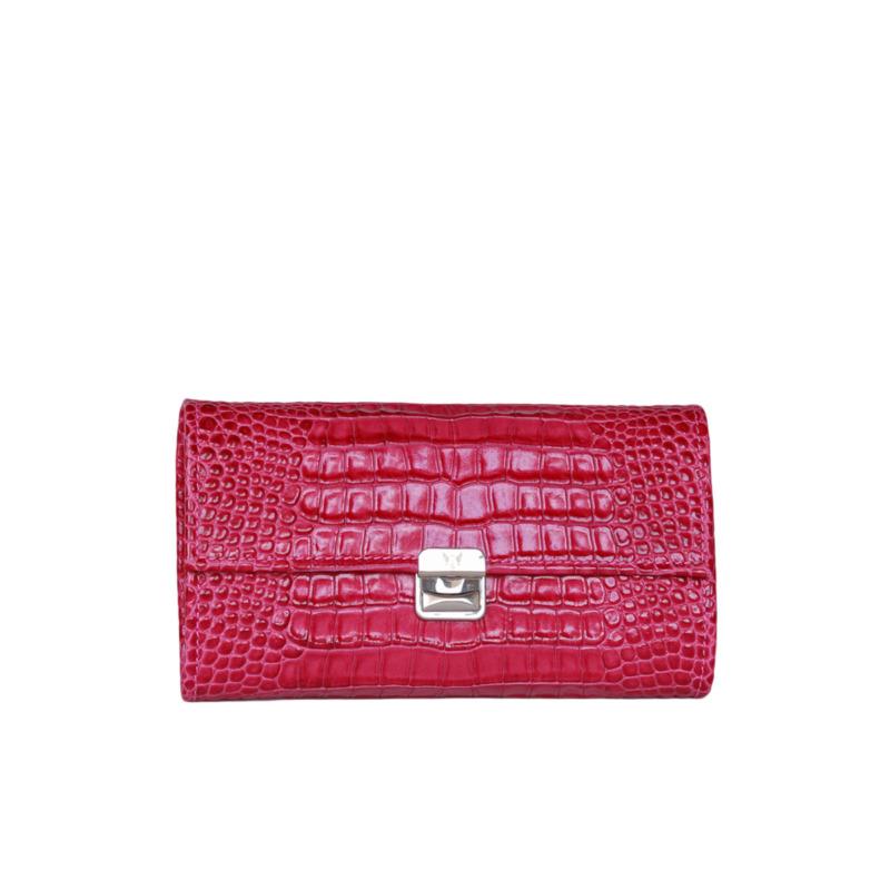 pink portemonnaie kroko