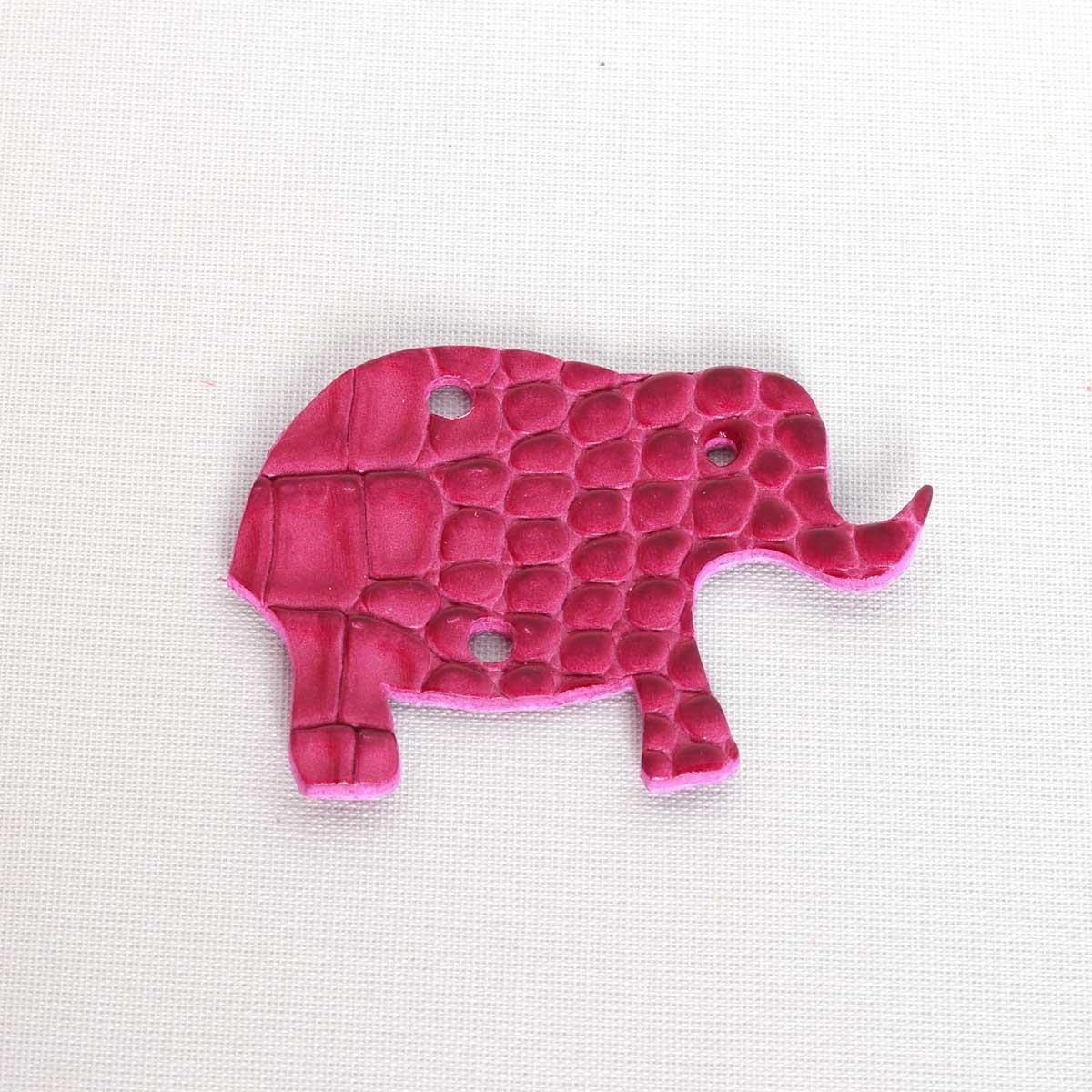 Elefant Cocco Fuchsia aus Leder