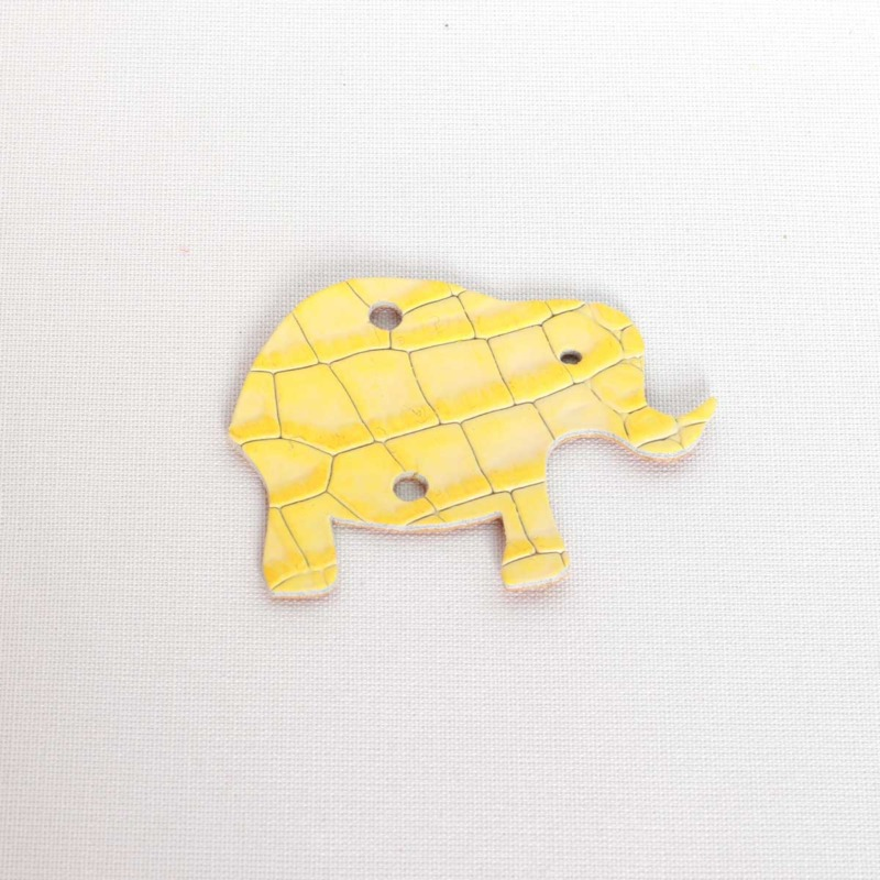 Elefant Cocco Gialllo aus Leder